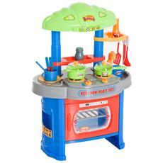 Cucina Giocattolo, Blu E Grigio, 46x30x67cm