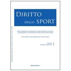 Diritto dello sport (2010) . Vol. 1