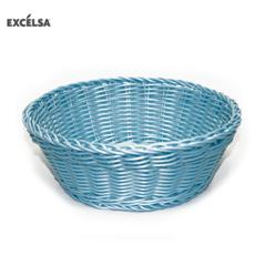 41244 Cestino Intreccio per Alimenti Diametro 20 cm Colore Azzurro