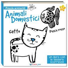 Animali Domestici (Libro+Puzzle Tessere Scorrevoli)