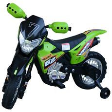 Moto Cross Elettrica Per Bambini, Verde, 107x53x70cm