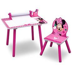 Minnie Mouse Tavolo Da Disegno, Legno, Rosa, 44.45x59.70x43.18 Cm, 2 Unità