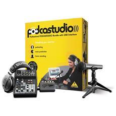 Sist. PODCASTUDIO USB Mixer+Cuf+Mic013726