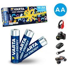 Confezione Risparmio Da 10 Batterie Stilo Aa 774098 Alcaline Lr6 1. 5v
