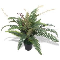 Felce Pianta Artificiale Con Vaso 60 Cm Verde