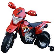 Moto Cross Elettrica Per Bambini, Rosso, 107x53x70cm