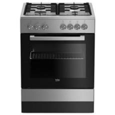 Cucina a Gas FSE62120DX 4 Fuochi a Gas Forno Gas Dimensioni 60 x 60 cm Colore Inox