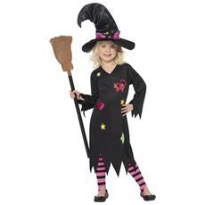 JADEO - Costume Da Bambina Strega Gatto Halloween 4 A 6 Anni aff3c85113a4