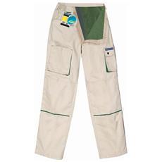 Pantalone Goodyear In Poliestere E Cotone Colore Khaki Flanellato Internamente Taglia L