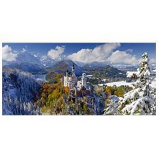 Puzzle Panorama Castello di Neuschwanstein 2000 pz 132 x 61 cm 16691