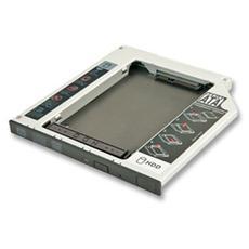 Adattatore per Hard Disk SATA in slot slim per CD / DVD / BD (alti fino a 9,5mm)