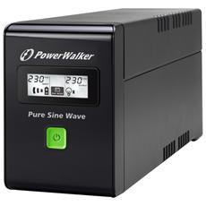 BlueWalker PowerWalker VI 800 SW A linea interattiva 800VA 2AC outlet (s) Nero gruppo di continuità (UPS)
