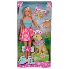 Steffi Love - Bambola Con Labrador Cambia Espressione