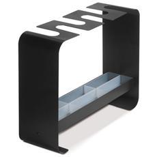 Portaombrelli Di Design Zig Zag Arredamento Moderno Nero