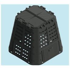 Compostiere Compostiera Lt. 420 Brixo Ecobox Rugby 89x89xh80.
