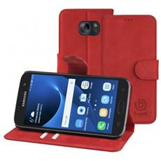 Flip Cover Custodia per Galaxy S7 Colore Rossa