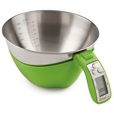 Bilancia Digitale Cucina A Batteria Ciotola Inox 5kg / 1g Illie