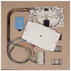 ILWL PG-SC-OM4-SET - Cassetta di giunzione con 12 Pigtail SC multimodali OM4