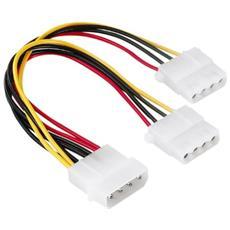 """5.25"""" male plug-two 5.25"""" female jack, 0,15 m 5.25"""" 2x5.25"""" cavo di interfaccia e adattatore"""