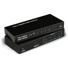 Adattatore Audio / Video Nero F / F 192 Khz 15.4 x 6.9 x 2.2 cm A04-OP-SW401