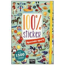 Speciale sport. 100% sticker. Con adesivi