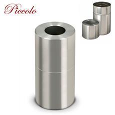 Gettacarte Pattumiera In Alluminio Satinato Apribile 32Xh70Cm
