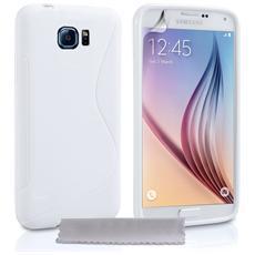 Cover Custodia Sline Silicone Tpu - Bianco - Samsung Galaxy S6
