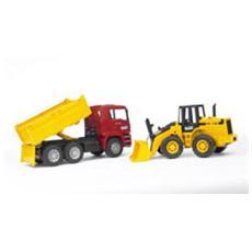 Camion Man con Ruspa Pala Meccanica 1:16 02752