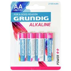 4 Pile Batterie stilo AA alcaline 2100 mAh