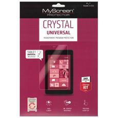 Pellicola Universale Crystal In Policarbonato Antigraffio Alta Qualità 3h Per Tablet Fino A 10 Pollici Con Istruzioni Di Montaggio 185x265 Mm