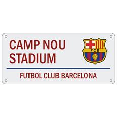 Camp Nou Stadium Targa Ufficiale Con Stemma (taglia Unica) (bordeaux)