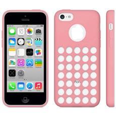 Custodia Cover Tpu Con Fori Per Iphone 5c Rosa