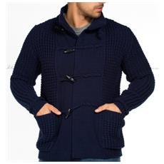 Pullover Uomo Con Alamari L Blu