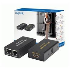 Video Extender HDMI over CAT5 HDMI-A 2xRJ45 Nero cavo di interfaccia e adattatore