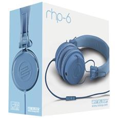 """RHP-6, Stereofonico, 3.5 mm (1/8"""") , Omni, Padiglione auricolare, Blu, Cablato"""
