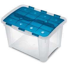 Contenitore Home Storage Home box 25 h oceano / trasparente L32,2 x P46,5 x H28