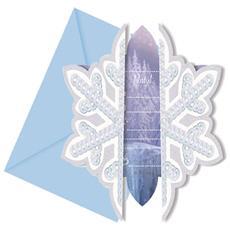 Frozen - Ice Skating - 6 Inviti Con Busta
