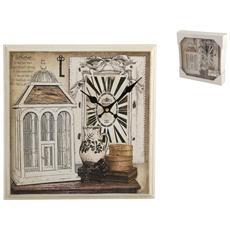 Orologio Parete Quadrato Cage Cm32 Arredo Casa