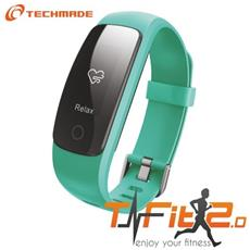 "Activity Tracker T-Fit 2.0 Resistente all'acqua IP67 Display 0.96"" Bluetooth con GPS e Cardiofrequenzimetro Verde – Italia"