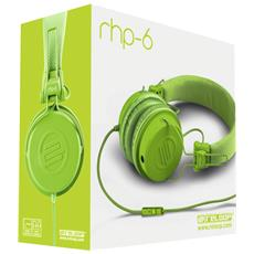 """RHP-6, Stereofonico, 3.5 mm (1/8"""") , Omni, Padiglione auricolare, Verde, Cablato"""