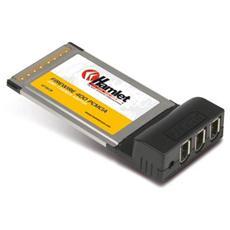 HFWCB Scheda PCMCIA con 3 porte Firewire 400