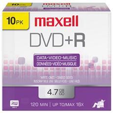 Dvd+r 4.7gb 16x Slim Case Cf. 10 F