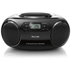 Stereo AZ330T Lettore CD Supporto MP3 Bluetooth / USB colore Nero / Argento