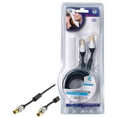 Cavo Coassiale Plug to Plug 1,5 Metri M / M