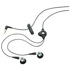 Auricolari Stereo a filo con microfono e 3.5mm - Nero