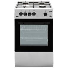 Cucina Elettrica CSS42014FS 4 Fuochi a Gas Forno Elettrico Classe B Dimensioni 50 x 50 cm Colore Inox