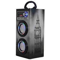 10w, Radio Fm (87.5 108mhz), Bluetooth 2.1, Usb, 3.5mm, Sd, Mmc, 150hz 20khz, 1000mah, Display Led, Multicolor - S. box Ts-79ln Small Torret Bt / usb / sd