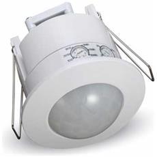 Sensore Di Movimento Infrarossi Crepuscolare Con Funzione Manual Override Montaggio Incasso A Soffitto 360° Bianco Ip20 Vt-8051 - Sku 1356
