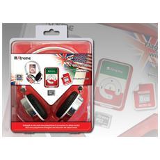 27666, MP3, Flash-media, Verde, Rosso, Bianco, 3.5mm, MP3, MicroSD (TransFlash)