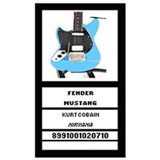 20710 Fender Mustang Kurtoobain Nirvana Modellino